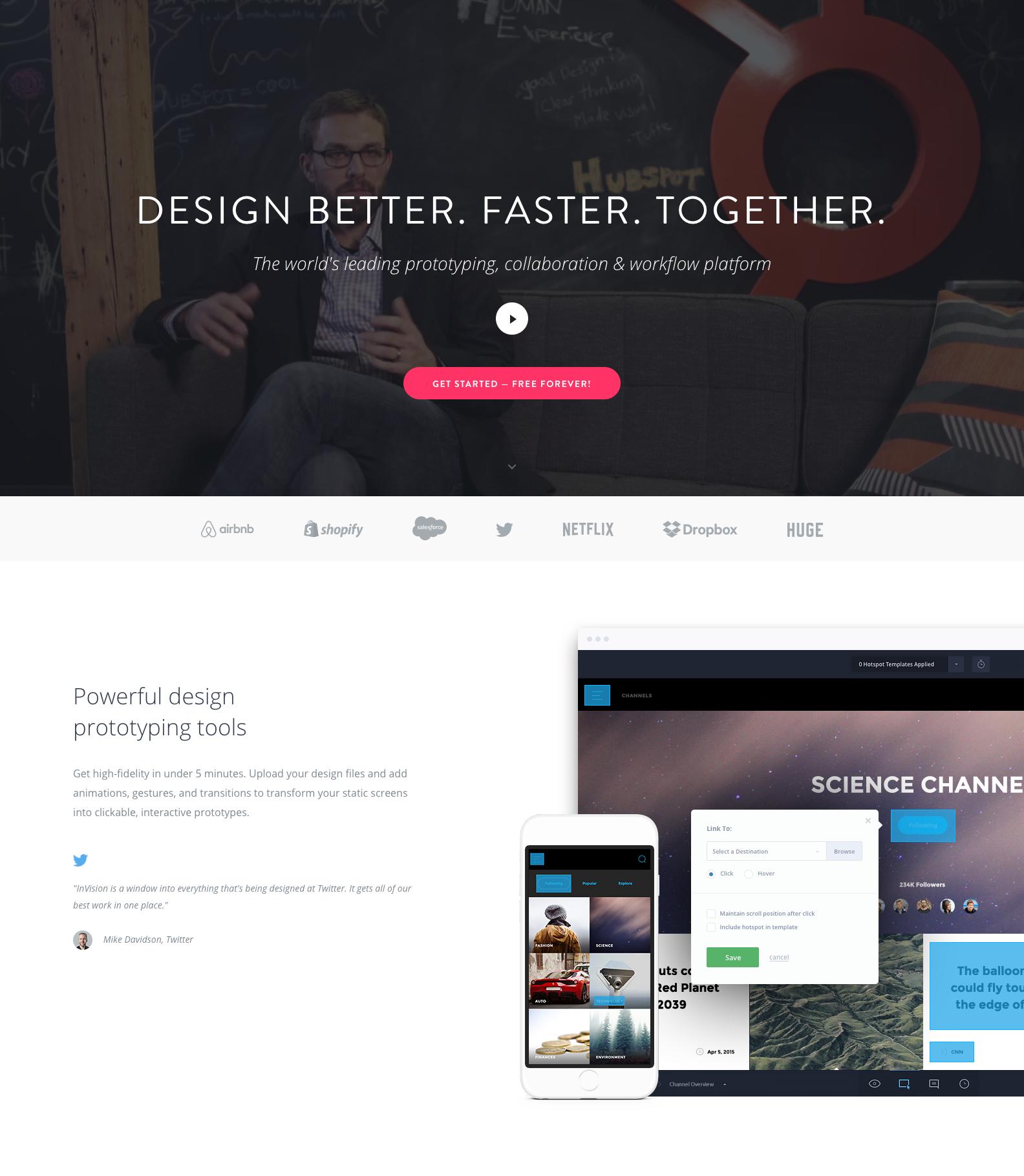 Invision content page