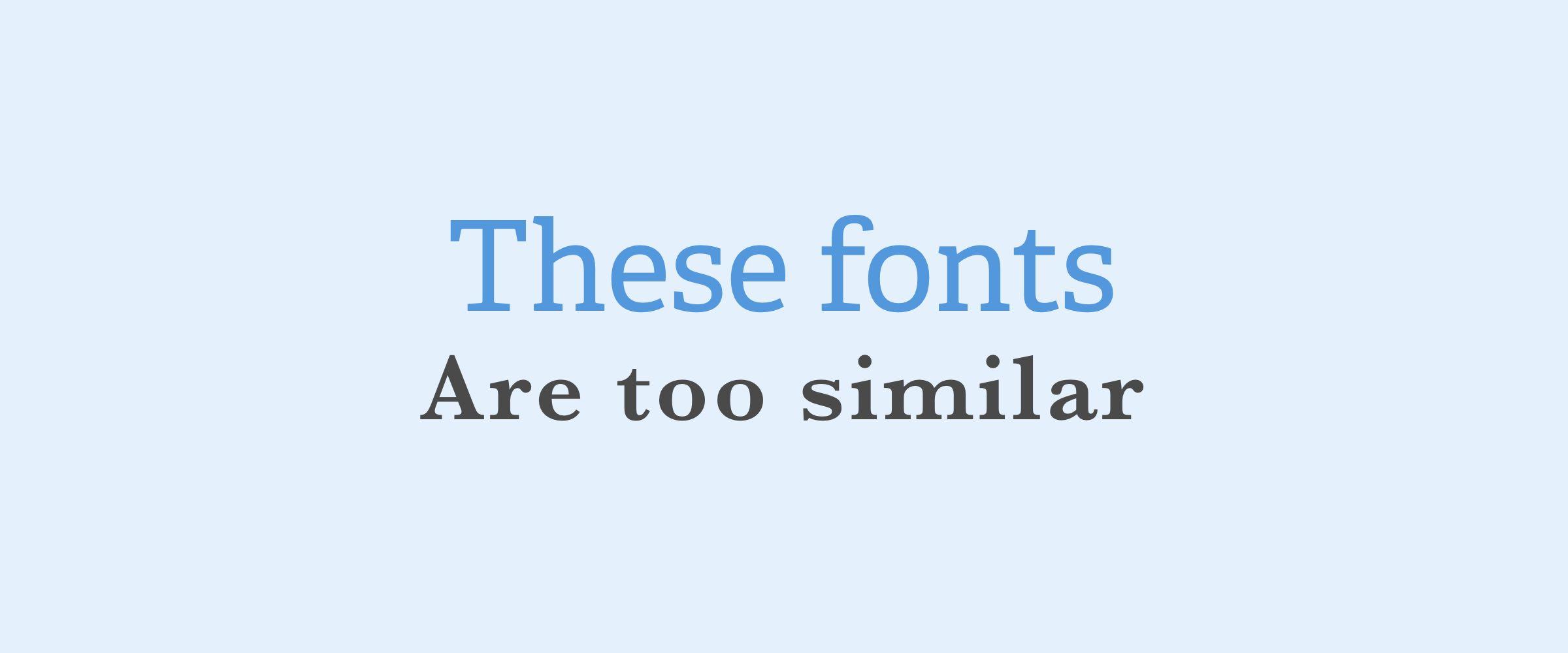 Create Contrast Between Your Fonts