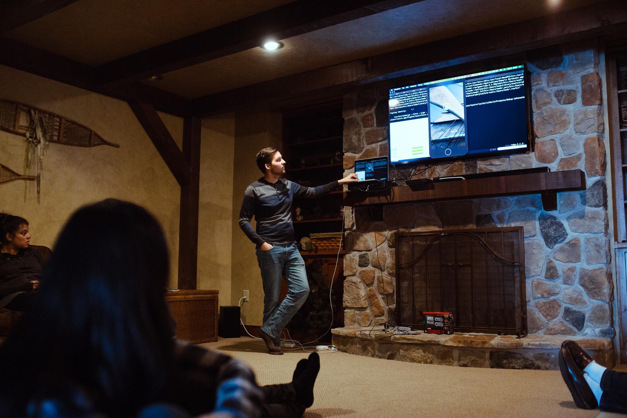 Presentation in cabin