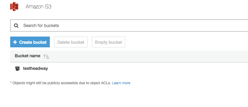 Edit S3 bucket
