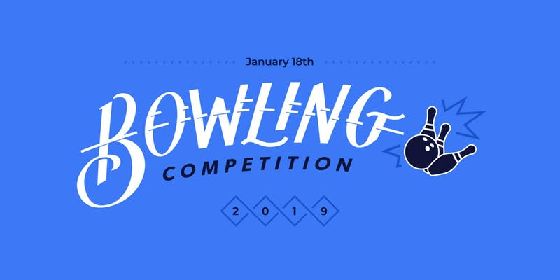 bowling competition promotional graphic
