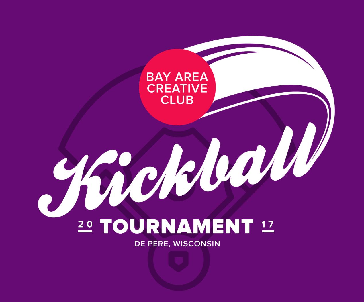 kickball tournament promotional graphic