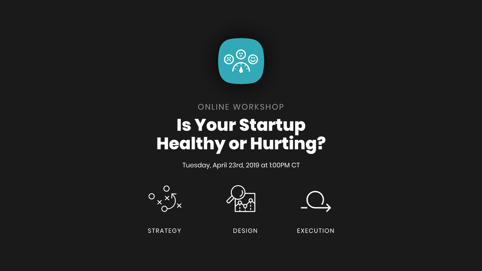 startup workshop promotional graphic