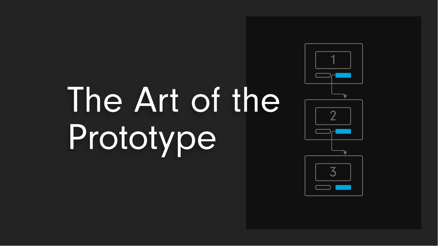 promotional graphic for art of the prototype