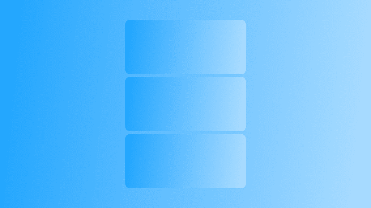 landing page layout graphic with blue gradient