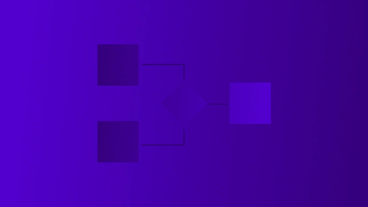 abstract wireframes on a purple gradient background