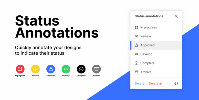 promo graphic for status annotations plugin for Figma