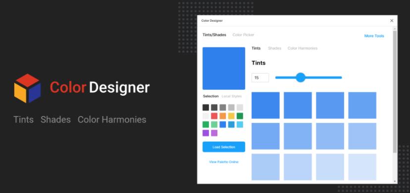 promo graphic for color designer plugin for Figma