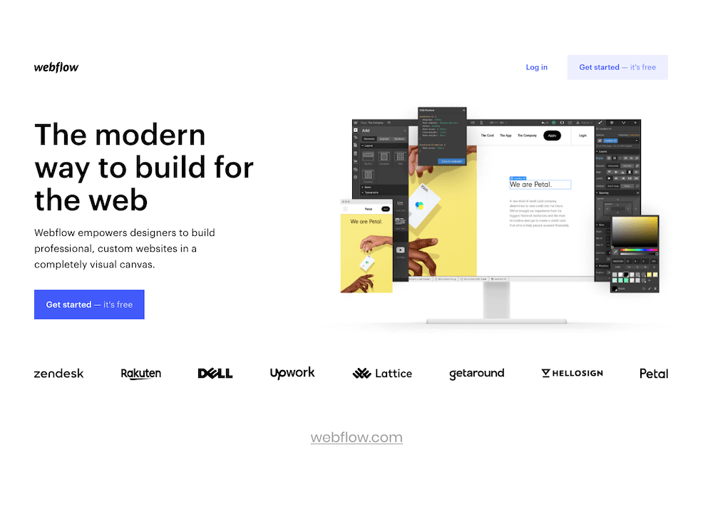 example of webflow tool for prototyping