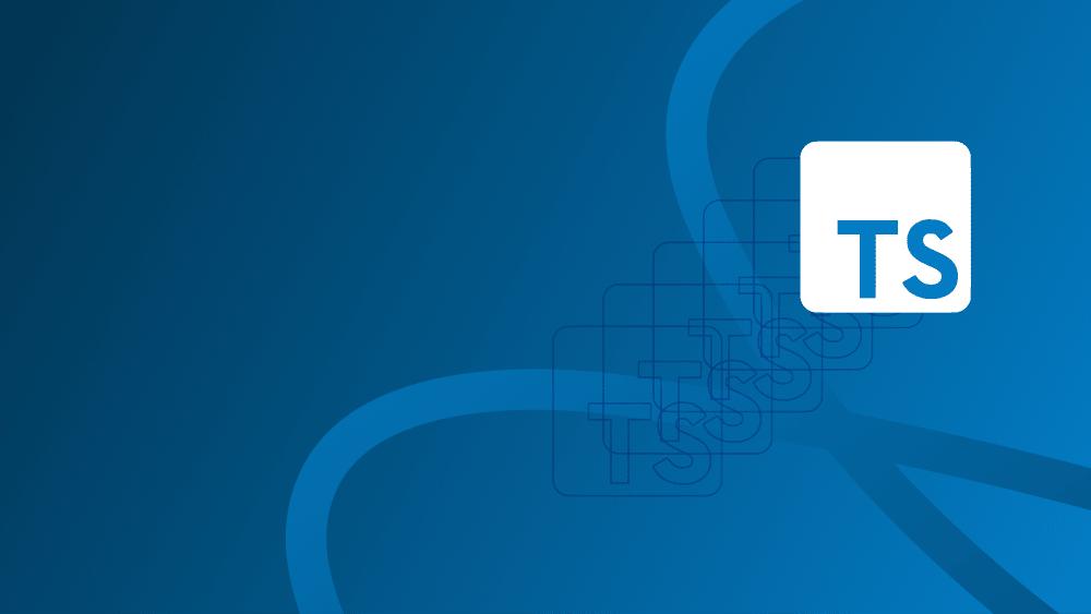 typescript logo on blue graphic
