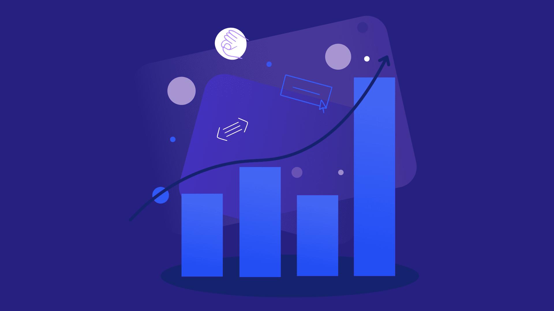 blue performance graph graphic