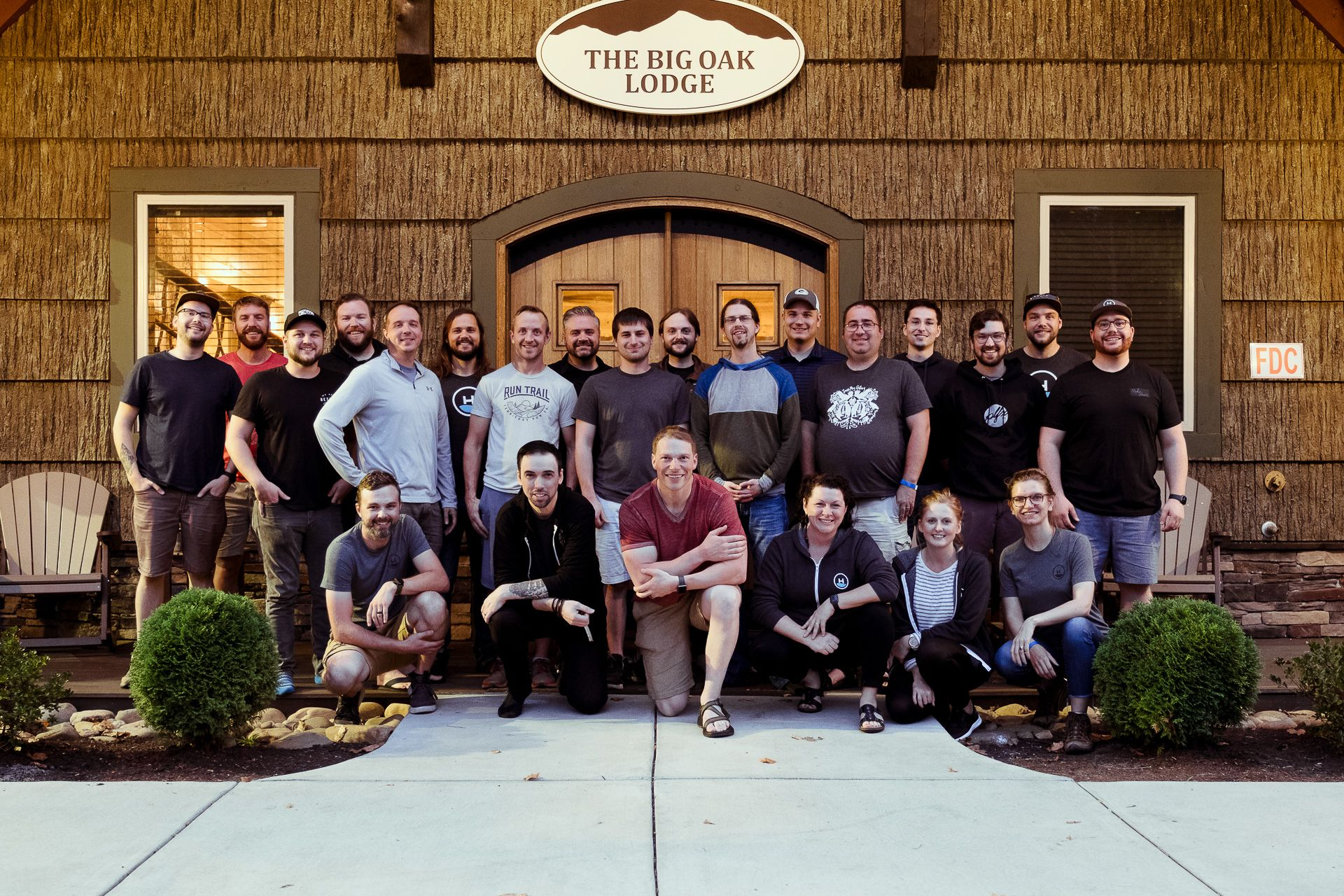Headway team poses for a group picture in Gatlinburg