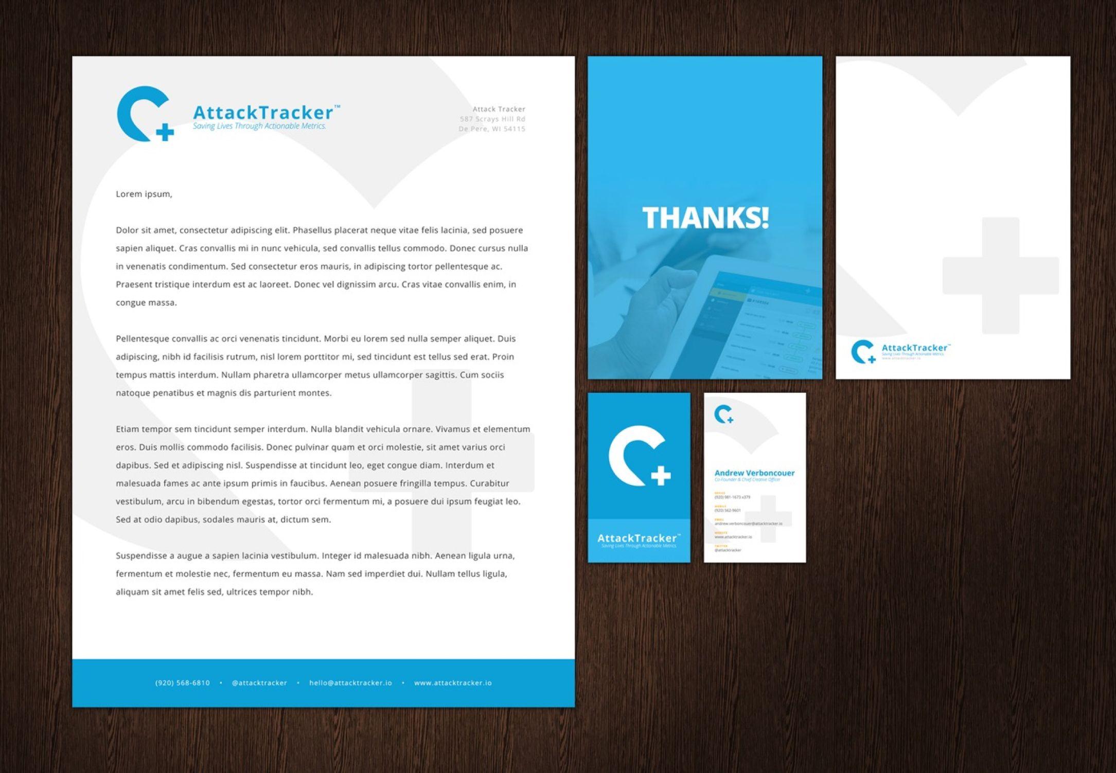 AttackTracker branded identity package