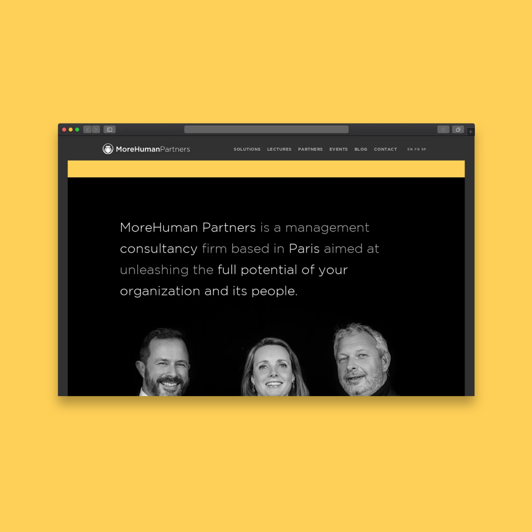 Corporate website for Morehuman partners