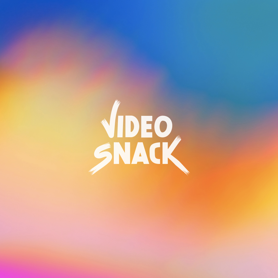 Colorful brand display for VideoSnack