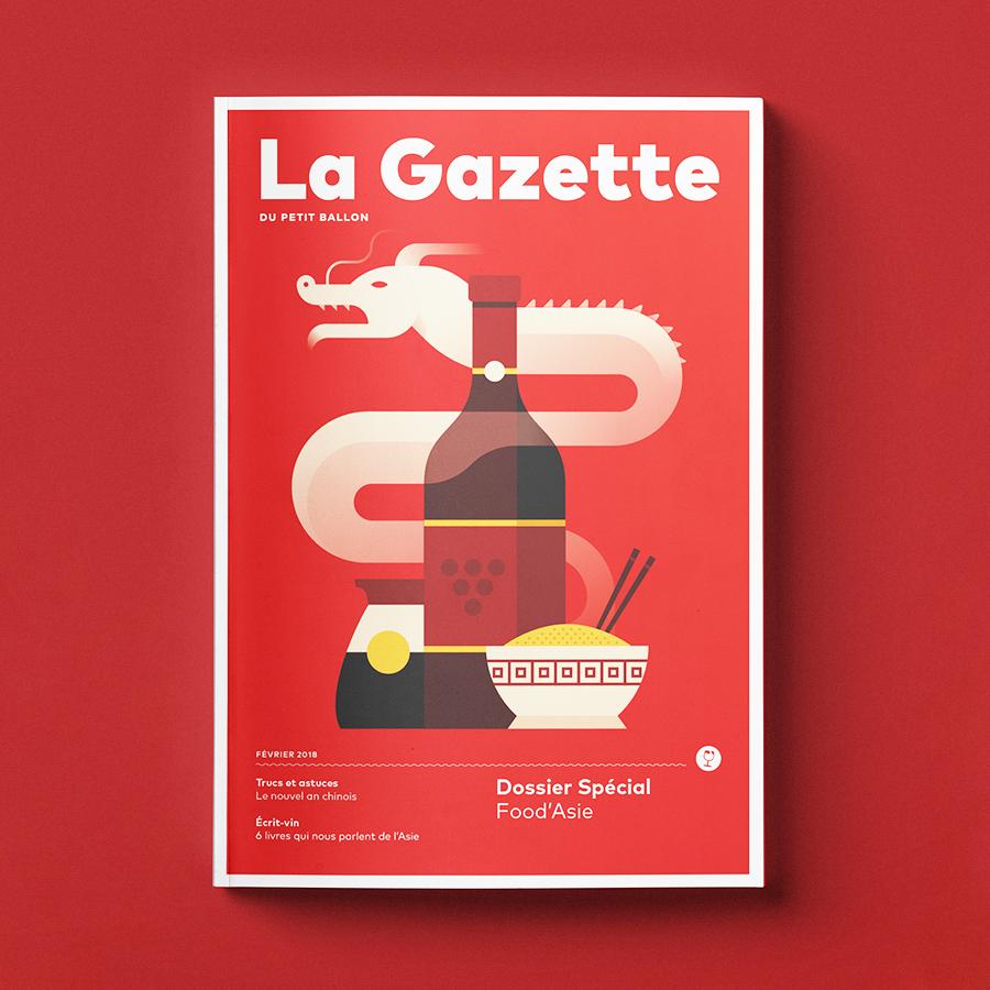 La Gazette cover illustration