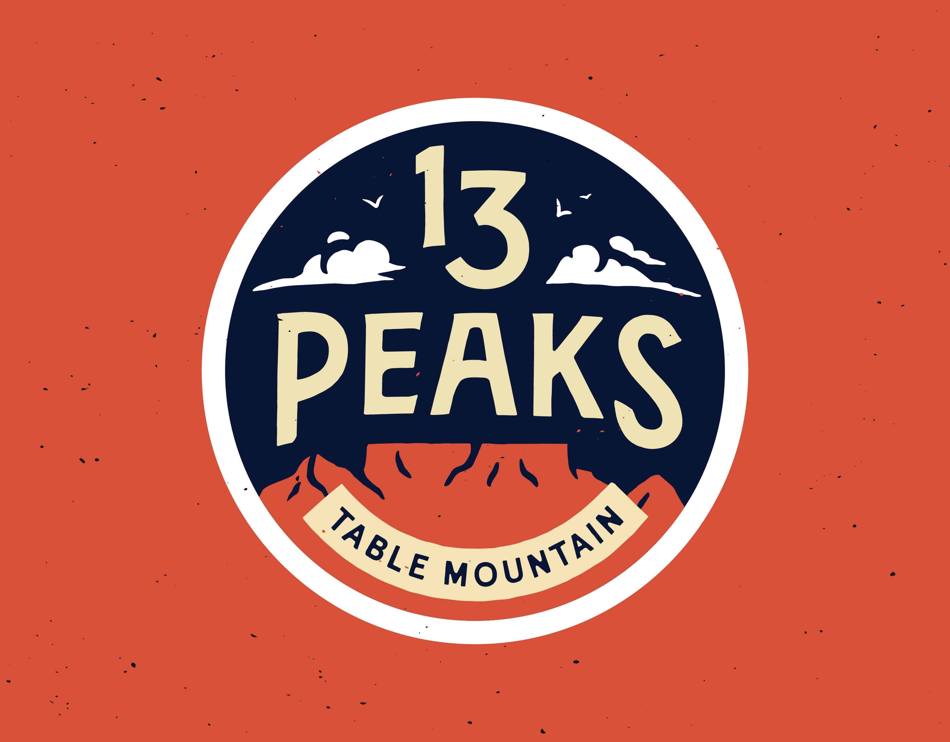 Ryan Sandes' 13 Peaks event identity