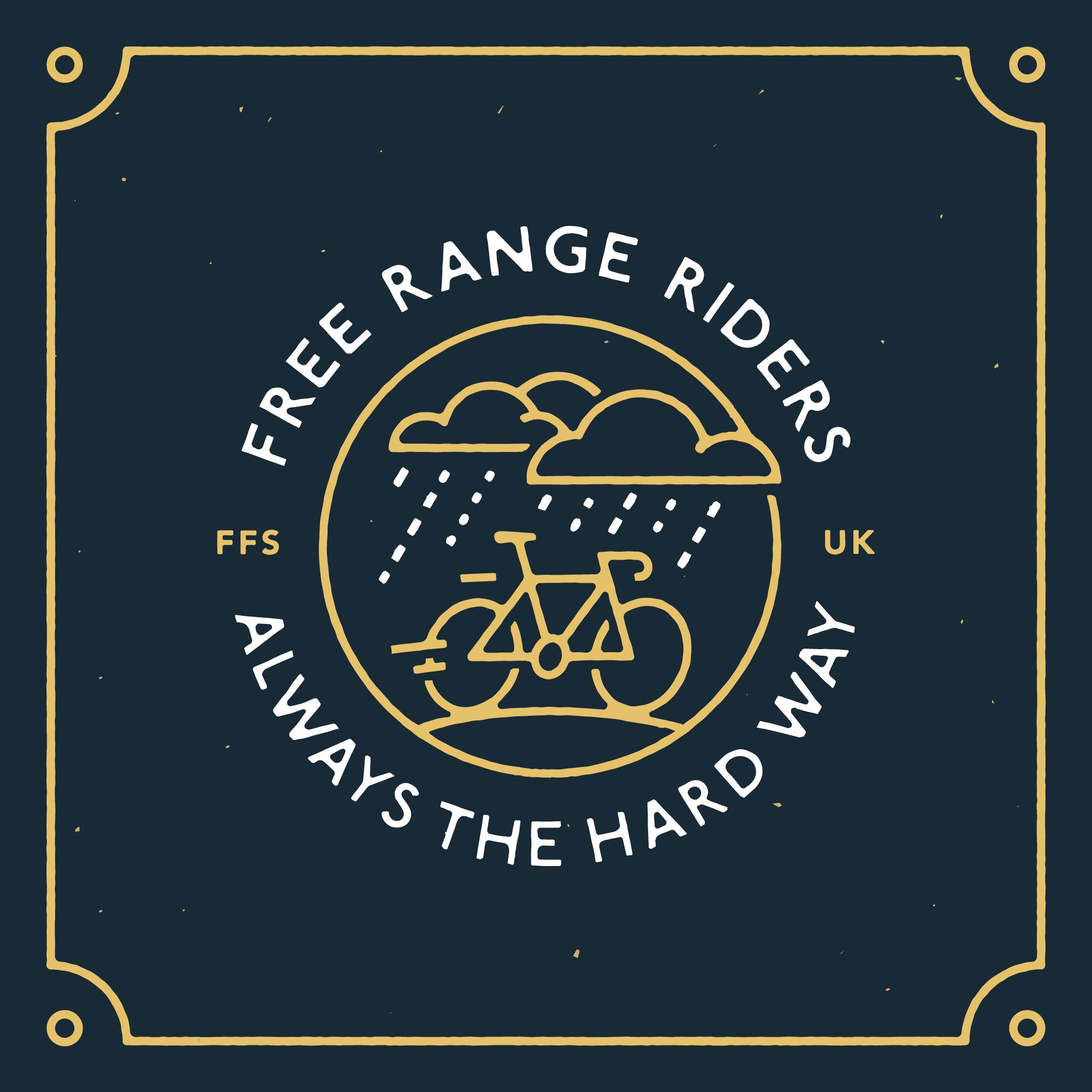 Free Range Riders branding