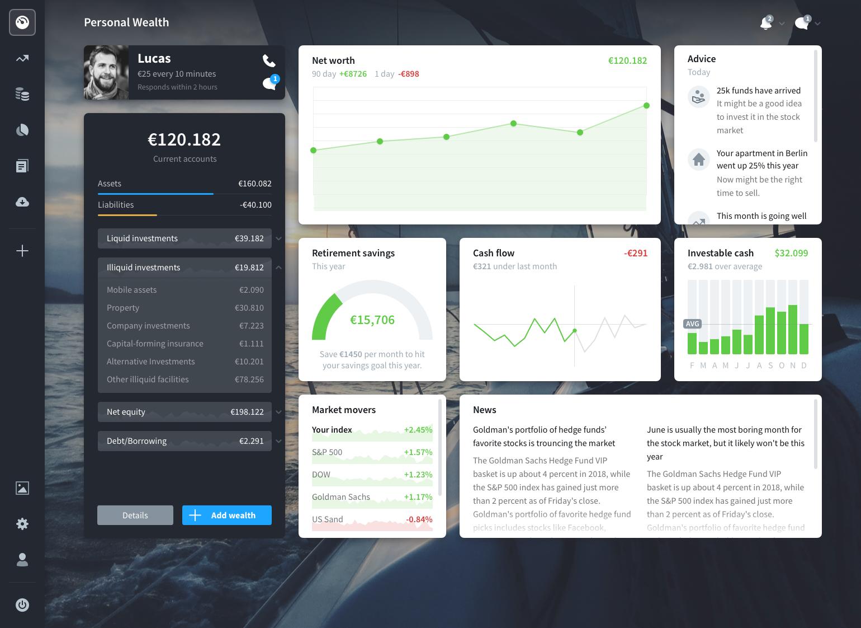 KapitalCoach interface design
