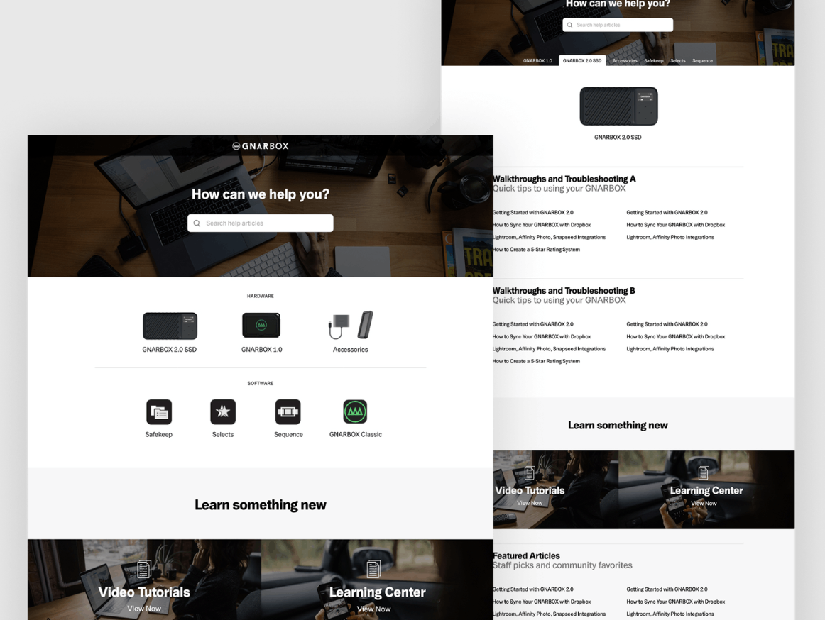 Gnarbox landing page