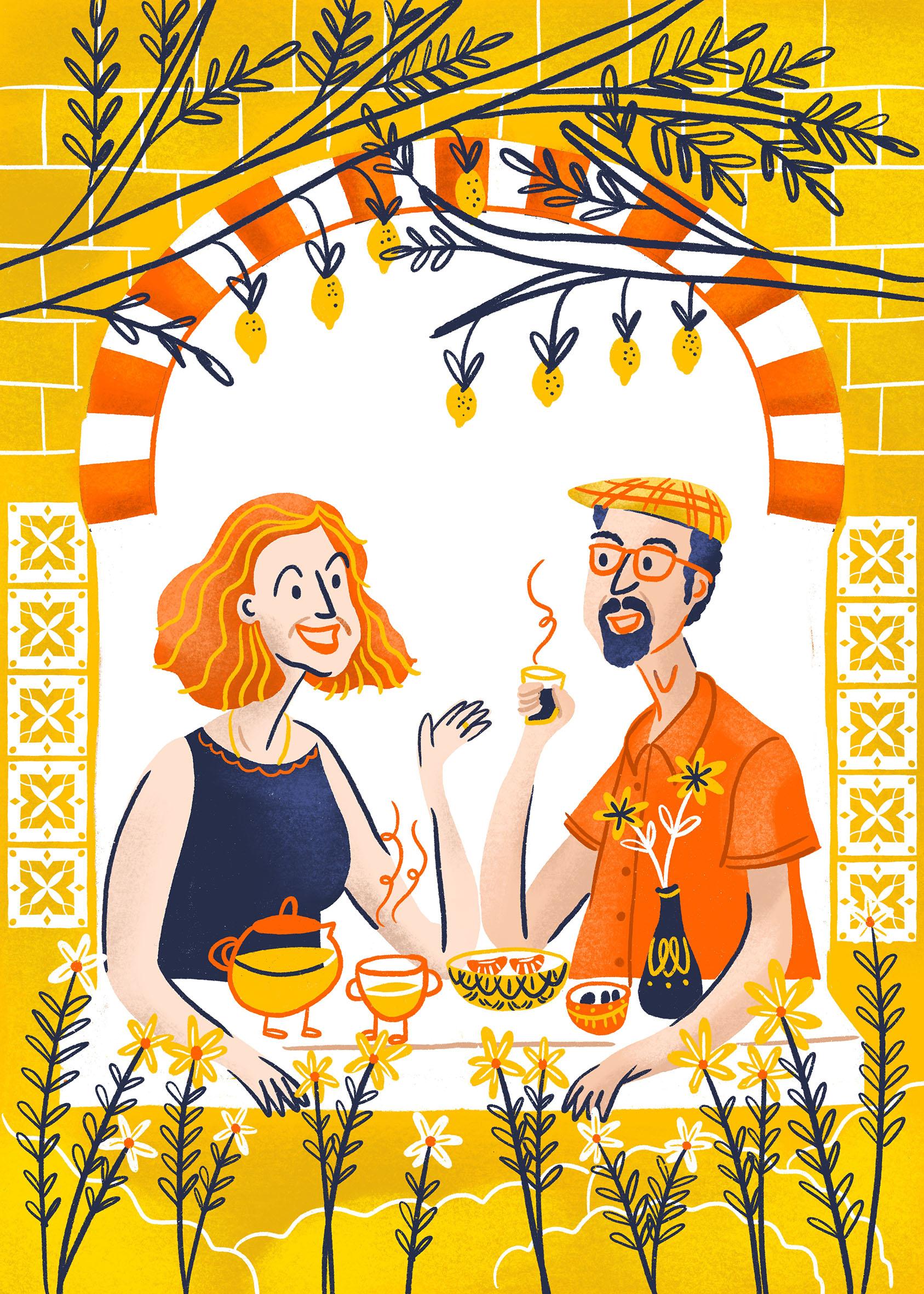 Béa et Salem illustration