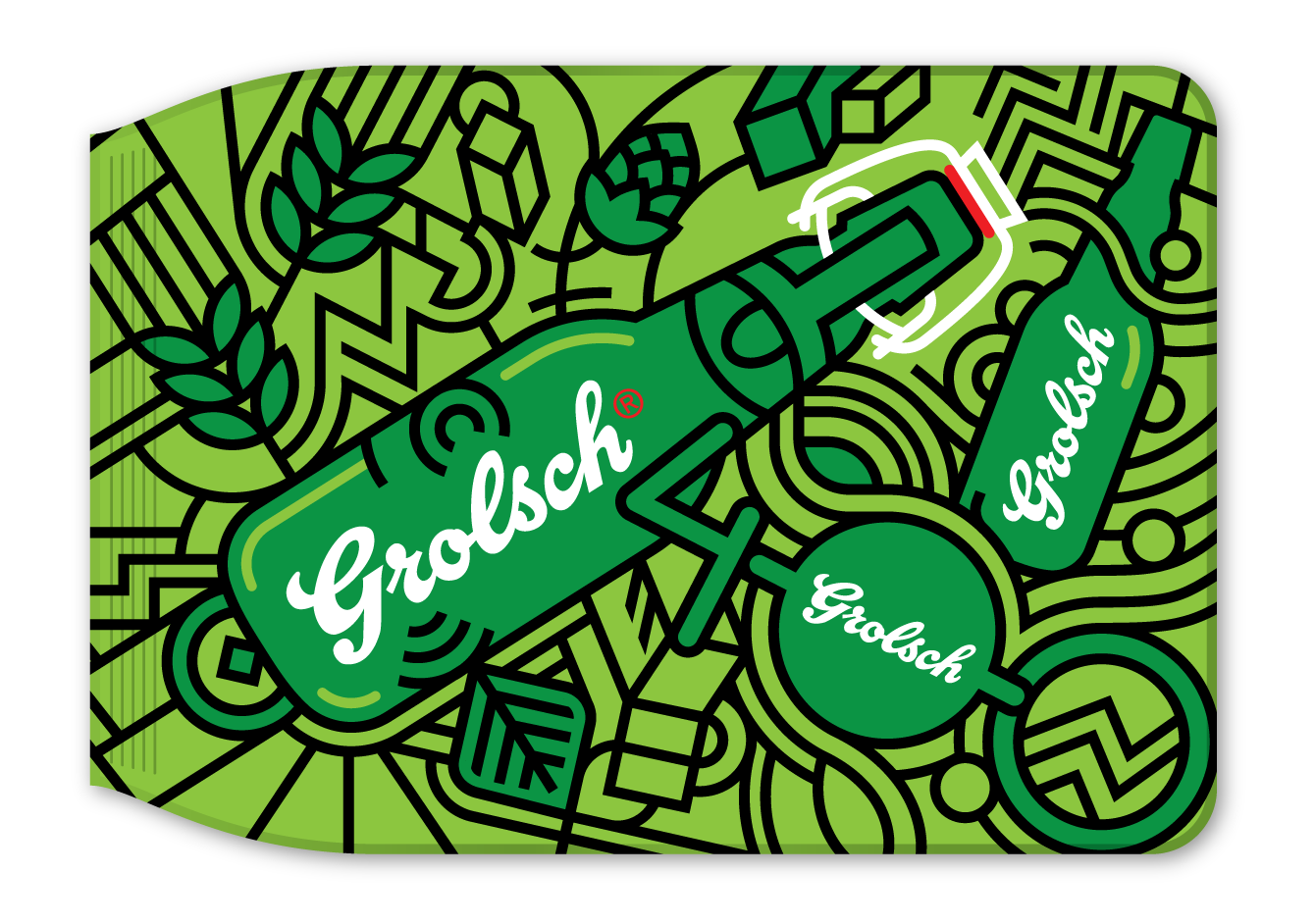 Grolsch Anniversary illustration