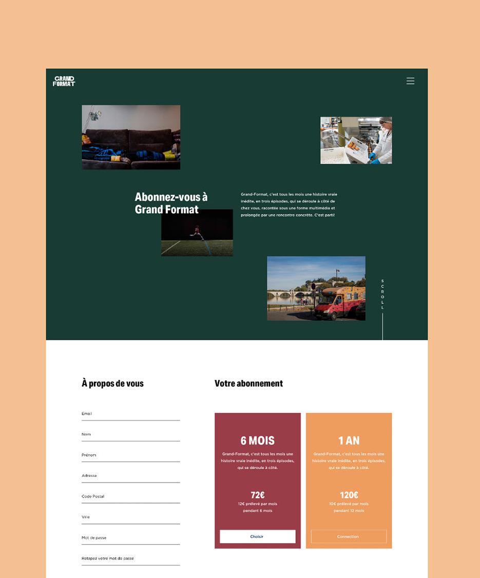 Grand Format Landing page