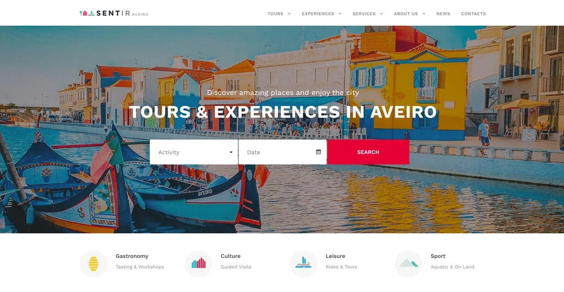 Sentir Aveiro platform design