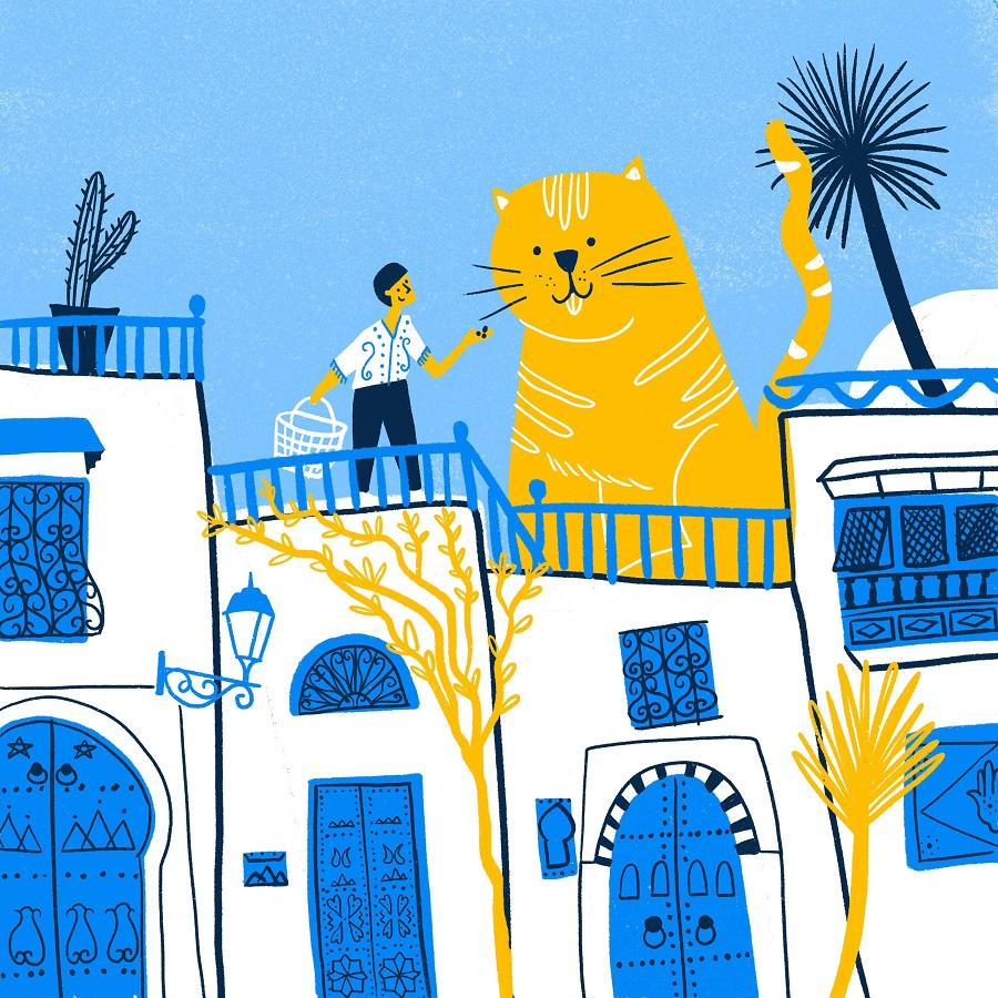Sidi Bou Said illustration