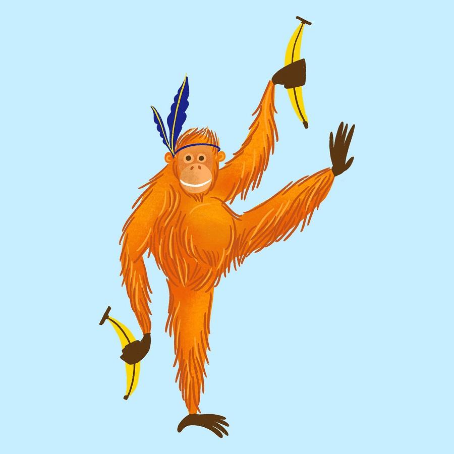 Orangutan day for Pustakalana Library