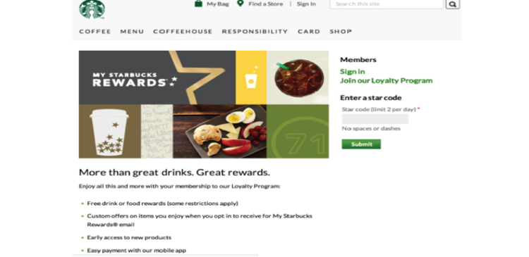 Starbuck Loyalty Program