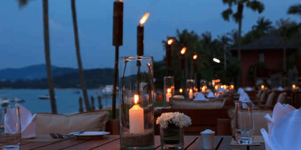 Waterfront Terrace And Bar at The Marriott in Goa