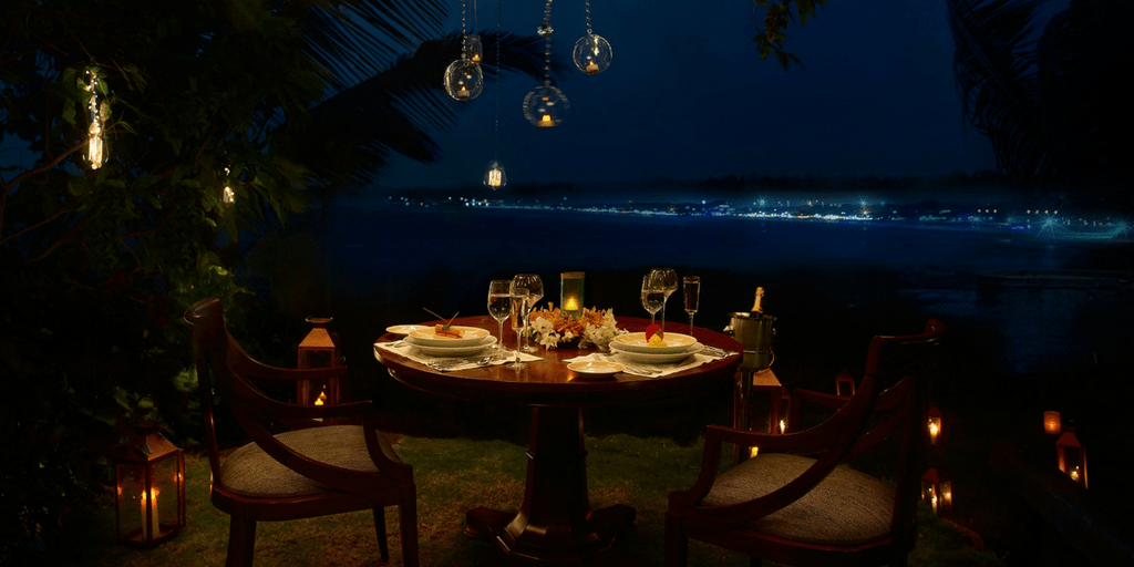 nightlife in Goa - dinner at Vivanta
