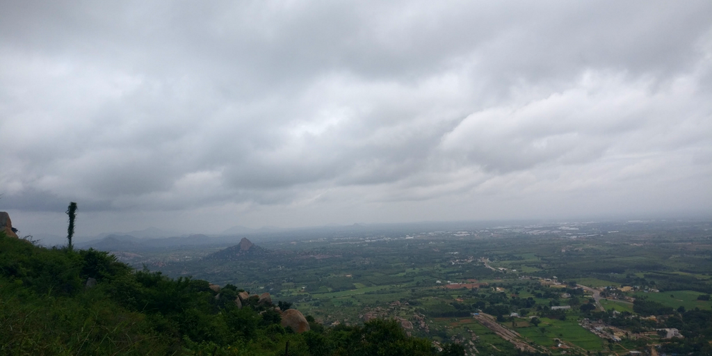 Another top view when trek to Shivaganga Temple