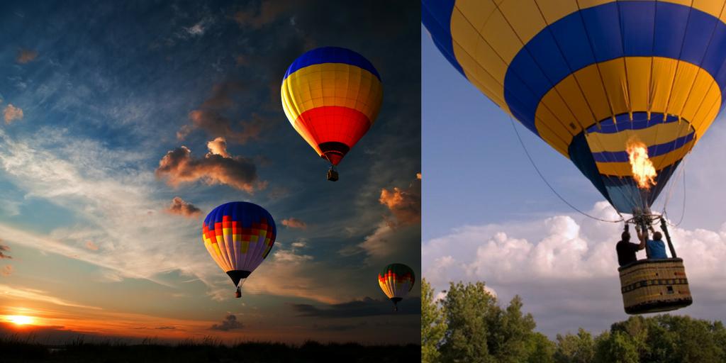 adventure sports in Bangalore hot air balloon ride