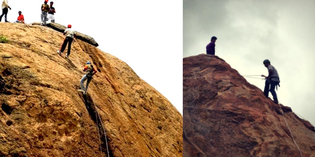 adventure sports in Bangalore rock climbing
