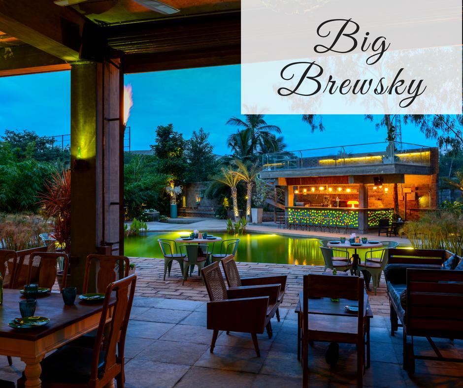 Romantic Restaurants in Bangalore big brewsky