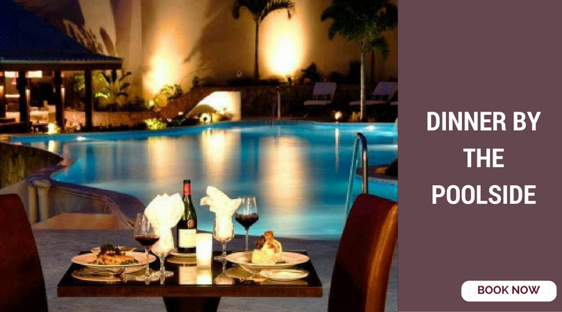 romantic things to do in Bangalore poolside dinner