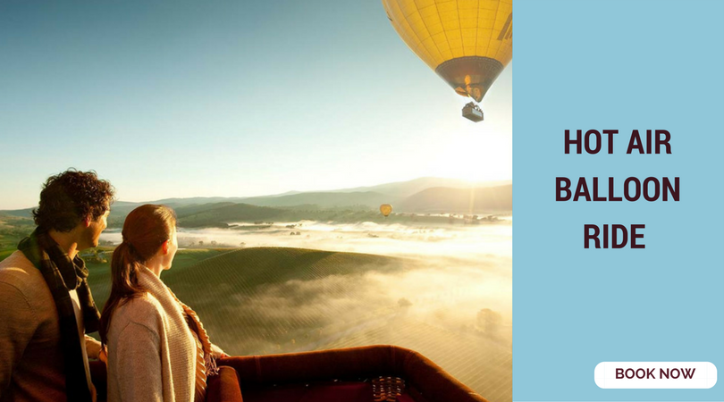romantic things to do in Bangalore hot air balloon ride
