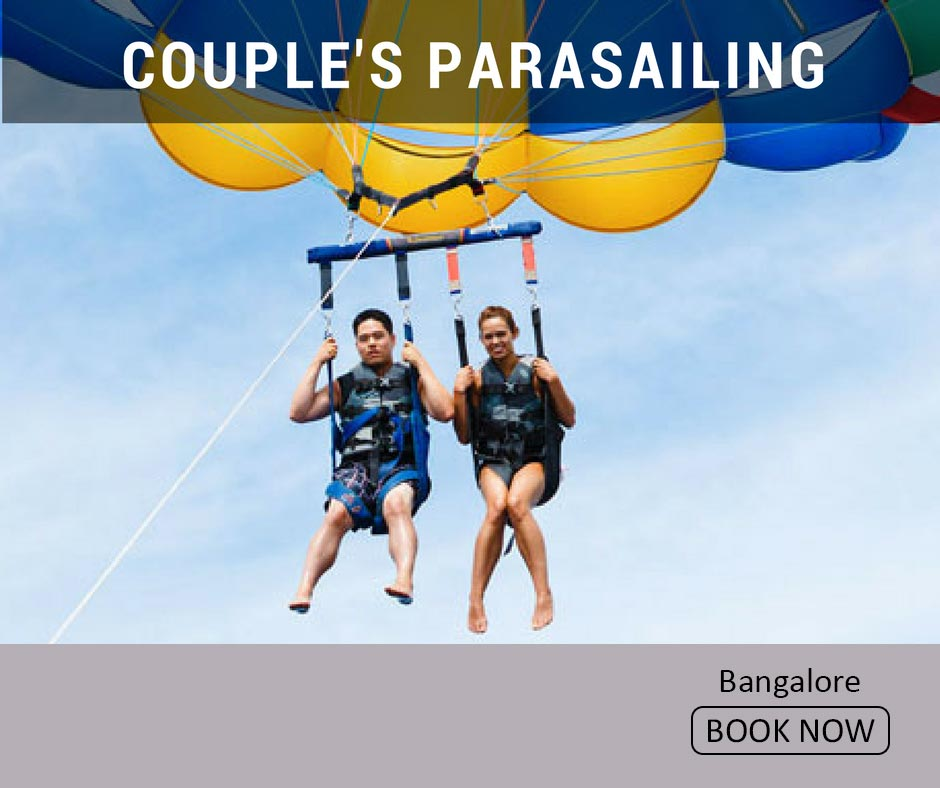 fun things to do in bangalore couple's parasailing