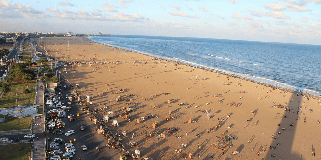 romantic places in Chennai - marina beach