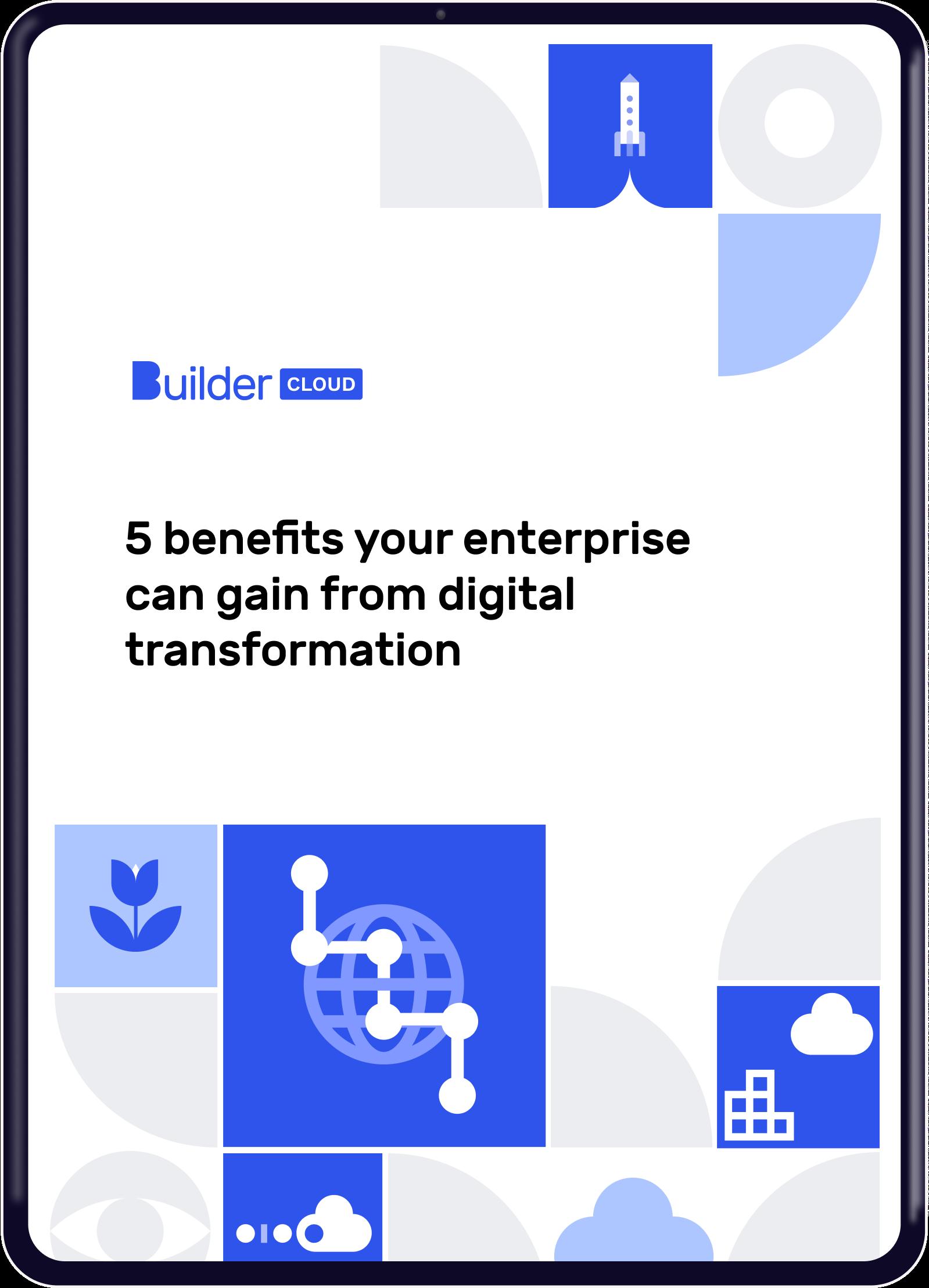 Builder Cloud e-book on digital transformation