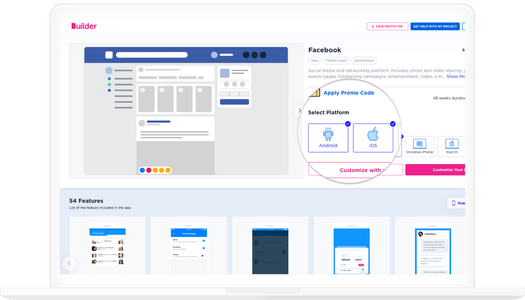 a website image built with builder