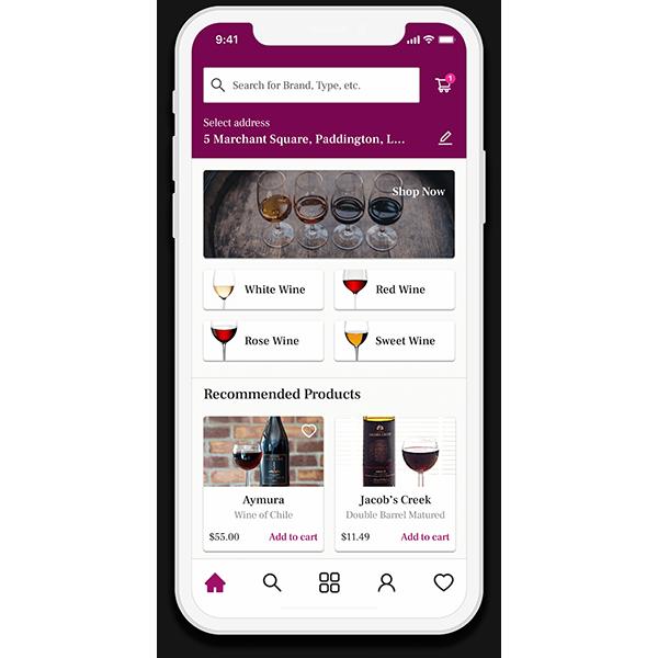 liquor delivery app screen