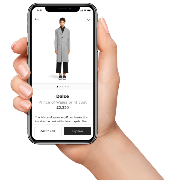 e-commerce app with product detail