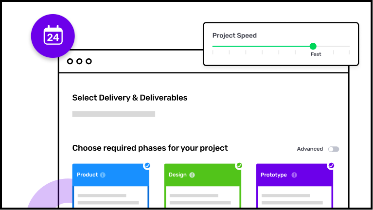 Builder Studio dashboard with deliverables