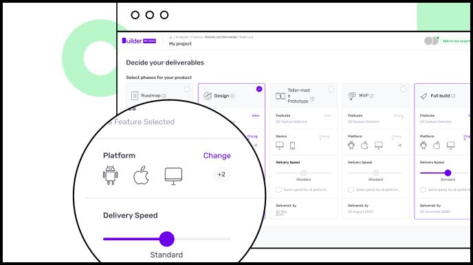 Builder Studio dashboard with deliverables