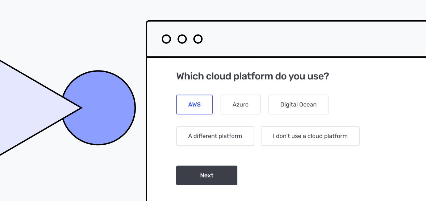 Builder cloud welcome screen