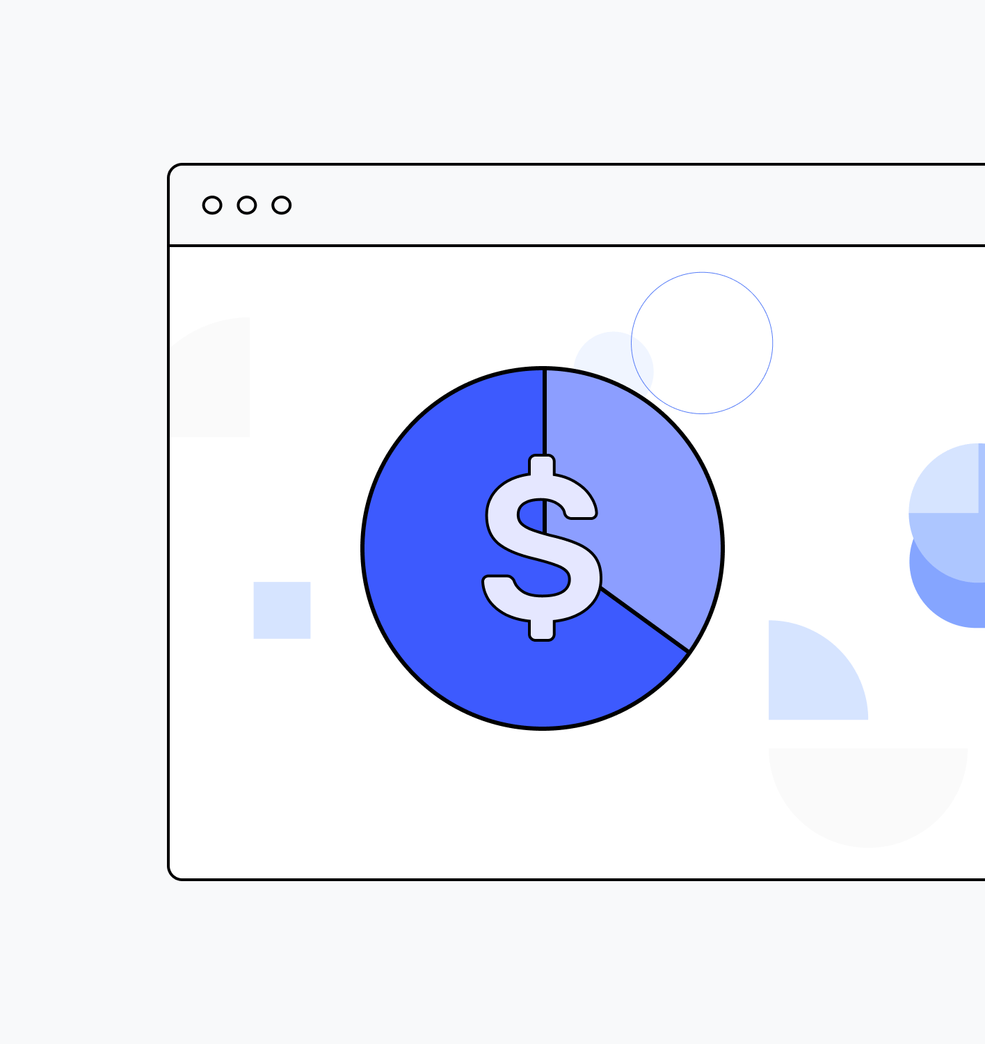 Cloud control screen with $ sign