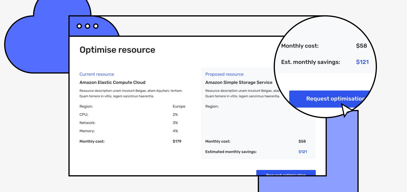 Cloud one resource optimisation screen for Amazon Elastic Compute Cloud
